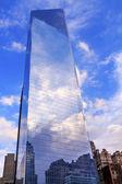 New world trade center glasbyggnad skyskrapa skyline återspeglar — Stockfoto
