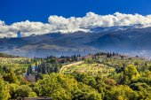 Alhambra Farm Mountains Granada Andalusia Spain — Stock Photo