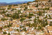 Alhambra White Buildings Cityscape Churches Albaicin Carrera Del — Stock Photo