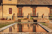 Alhambra Garden Pool Reflection Abstract Granada Andalusia Spain — Stock Photo