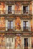 Plaza Mayor Walls Cityscape Madrid Spain — Stock Photo