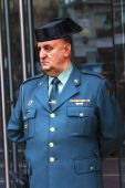 Gendarme Police Minstry of Justice Puerta del Sol Gateway of the — Stock Photo