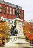 General Rochambeau Statue Lafayette Park Autumn Washington DC — Stock Photo