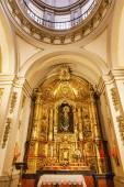 Basilica Dome Mary Baby Statue Santa Iglesia Collegiata de San I — Stock Photo