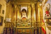 Basilica Altar Mary Jesus Statue Santa Iglesia Collegiata de San — Stok fotoğraf