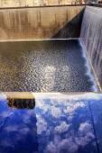 Memorial Pool Fountain Waterfall New York NY — Stock Photo