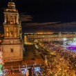 Metropolitan Cathedral Zocalo Mexico City Christmas Night — 图库照片 #62741673