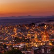 San Miguel de Allende Mexico Miramar Overlook Sunset Parroquia A — Stock Photo #62741881