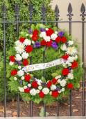 Wreath DC Office Killed Blair House Building Second White House  — Stock Photo