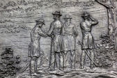 General Sherman Bronze Bas Relief Battle of Atlanta Civil War M — Stock Photo
