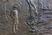 General Sherman Fire Bas Relief Civil War Memorial Pennsylvania — Stock Photo