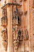 Stone Statues Doorway Facade New Salamanca Cathedral Spain — Stock Photo