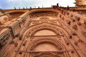 Stone Doorway Facade New Salamanca Cathedral Spain — Stock Photo