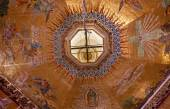 Dome Chandelier Mosaics Old Basilica Guadalupe Mexico City Mexic — Stock Photo