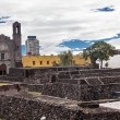 Plaza of Three Cultures Aztec Archaelogical Site Mexico City Mex — Stock Photo #65133291