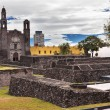 Plaza of Three Cultures Aztec Archaelogical Site Mexico City Mex — Stock Photo #65133379