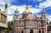 New and Old Basilica Shrine of Guadalupe Christmas Day Mexico Ci — Stock Photo