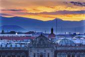 President's Palace Sunrise Zocalo Mexico City — Stock Photo