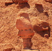 Watcher Goblin Mushroon Shaped Hoodoo Goblin Valley State Park R — Stock Photo