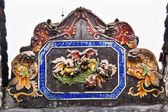 Ceramic Carp Figures Dragons Chen Ancestral Taoist Temple Guangz — Stock Photo