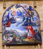 Jesus Mary Painting Gallego Old Salamanca Cathedral Spain — Stock Photo