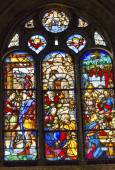 Mary Jesus King Nobles Stained Glass Salamanca New Cathedral Spa — Stock Photo