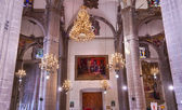 Chandeliers Mosaics Old Basilica Guadalupe Mexico City Mexico — Stock Photo