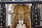 Petit autel chapelle ancienne basilique sanctuaire de Guadalupe de Mexico — Photo
