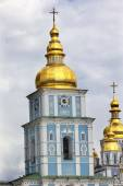 Saint Michael Monastery Cathedral Spires Golden Domes Kiev Ukrai — Stock Photo