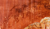 Native American Indian Fremont Petroglyphs Capital Reef National Park — Stock Photo