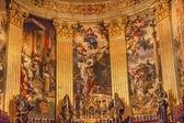 Altar Frescos San Francisco el Grande Royal Basilica Madrid Spai — Foto de Stock