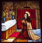 Saint Teresa Praying to Jesus Stained Glass Convento de Santa Te — Stock Photo