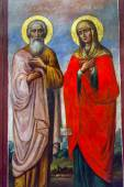 Saint Barbara Saint Andrew Painting Mikhaylovsky Church Kiev Ukraine — Stock Photo