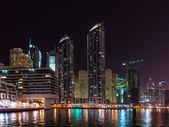 DUBAI, UAE: Skyscrapers of Dubai Marina on September 29, 2014 — Stock Photo