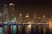 DUBAI, UAE: Skyscrapers of Dubai Marina on September 29, 2014 — Foto de Stock
