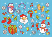 Christmass  Doodle — Stock Vector