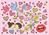 Simbolo di amore — Vettoriale Stock