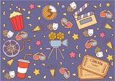 Cinema Attribute — Stock Vector