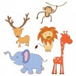 Set of Doodle Animal Safari — Stock Vector #53085285
