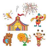 Doodle Circus Parade — Stock Vector