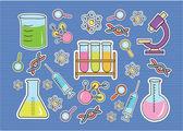 Doodle Bio Technology — Stock Vector