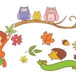 Autumn Season Object Collection — Stock Vector #57870961