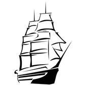 Sea travel ship — Stock Vector