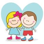 Lover kids — Stock Vector #70167125
