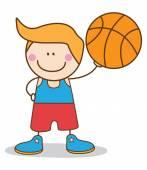 Boy basketball player — Stock Vector