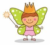 Kid fairy costumed — Stock Vector