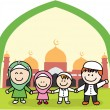 Moslem family — Stock Vector #75991661