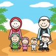 Moslem family — Stock Vector #75991775