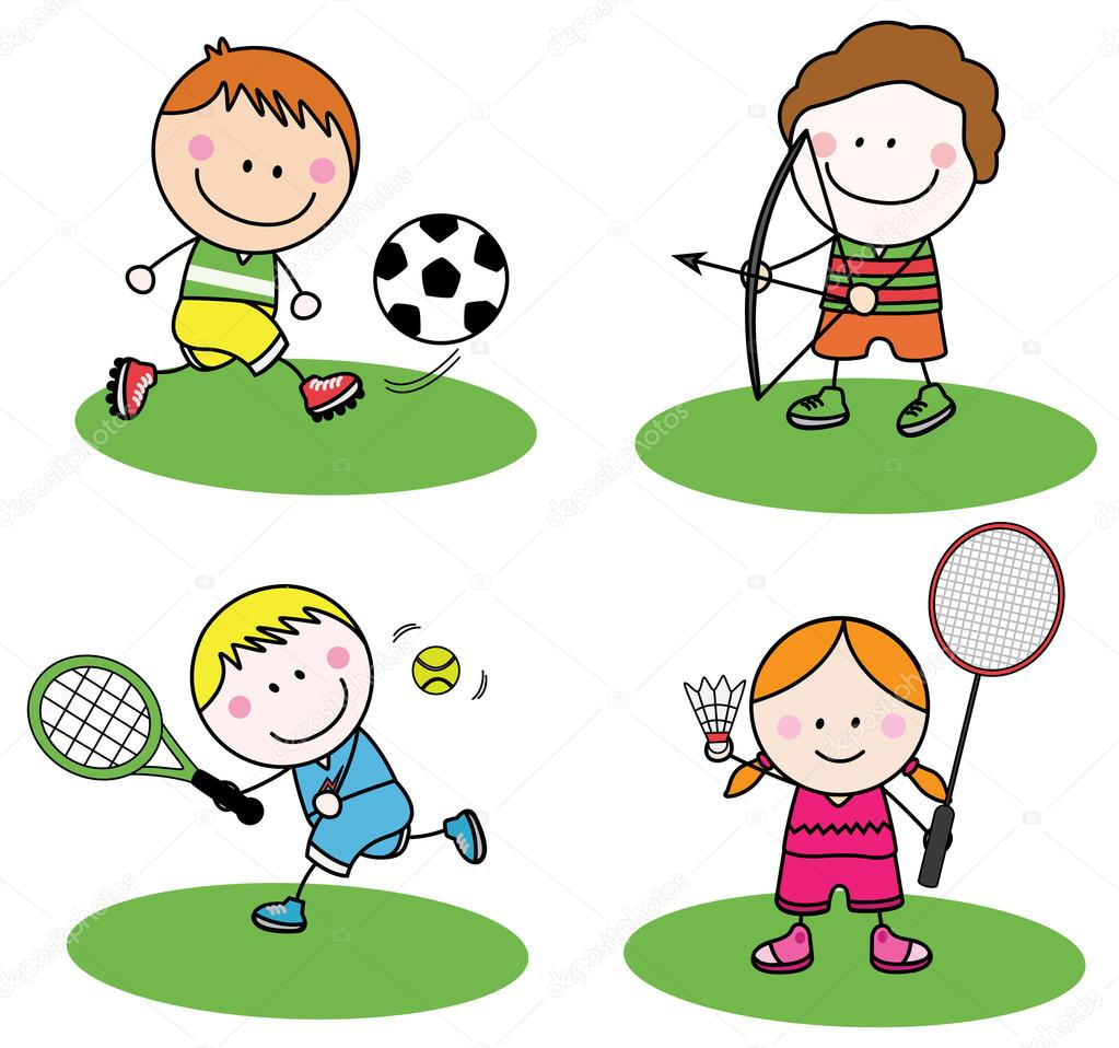 Детский Спорт — Векторное изображение © redrockerz99 #80354740