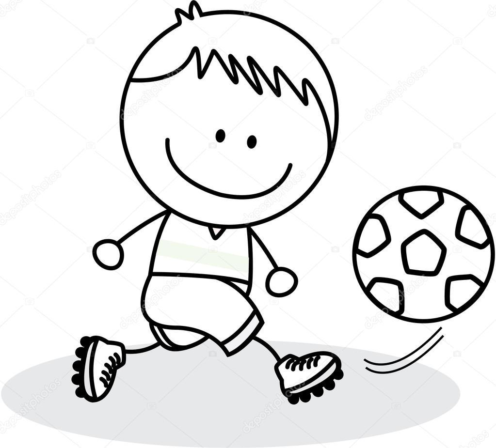 小动物踢足球背景简笔画